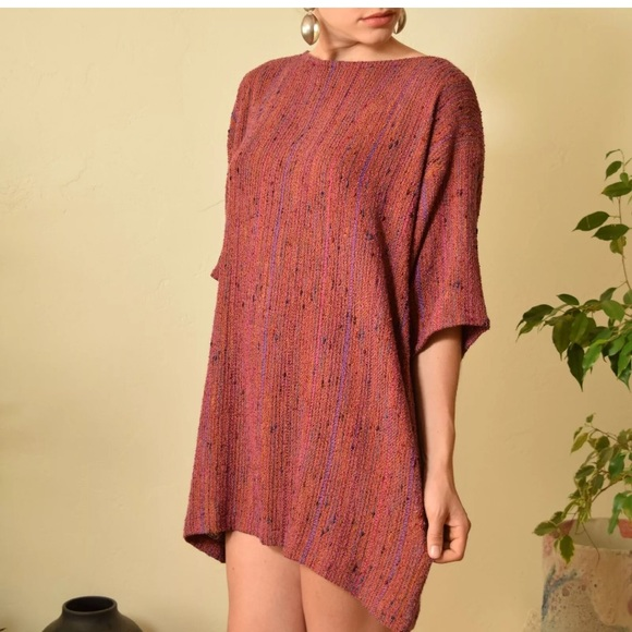 Vintage Dresses & Skirts - Vintage raw silk textured dress